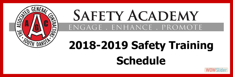 AGC 2018-2019 Safety Training Schedule
